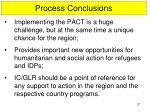 process conclusions