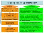 regional follow up mechanism