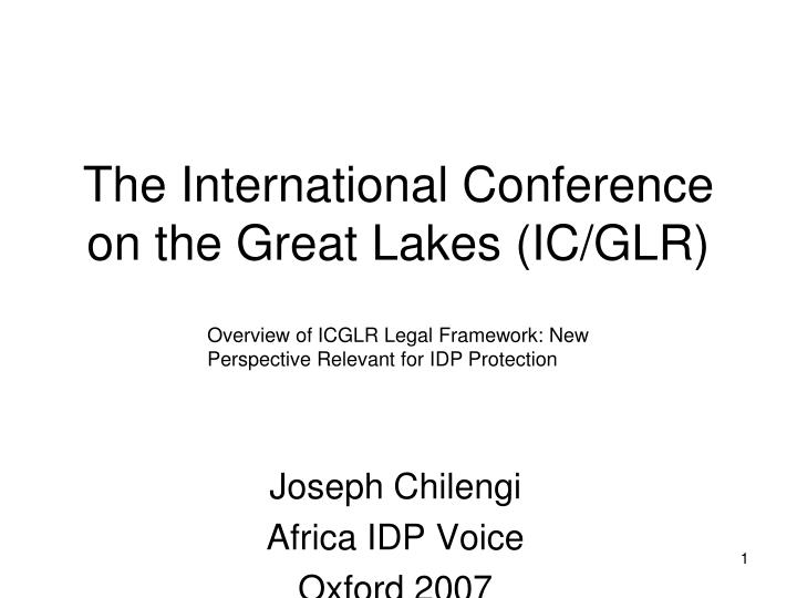 the international conference on the great lakes ic glr n.