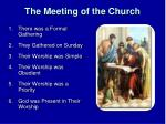 the meeting of the church