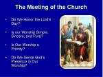 the meeting of the church1