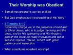 their worship was obedient3