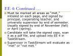 ee 4 continued