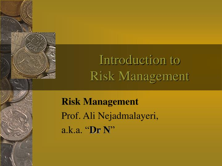 introduction to risk management n.