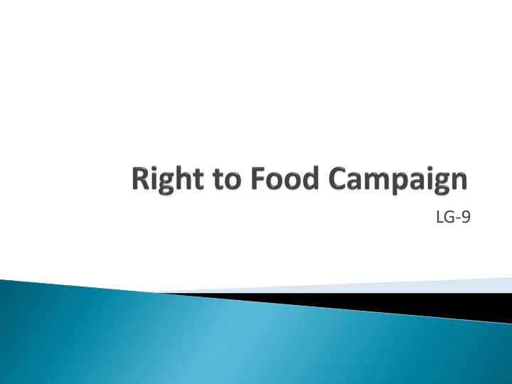 right to food campaign n.