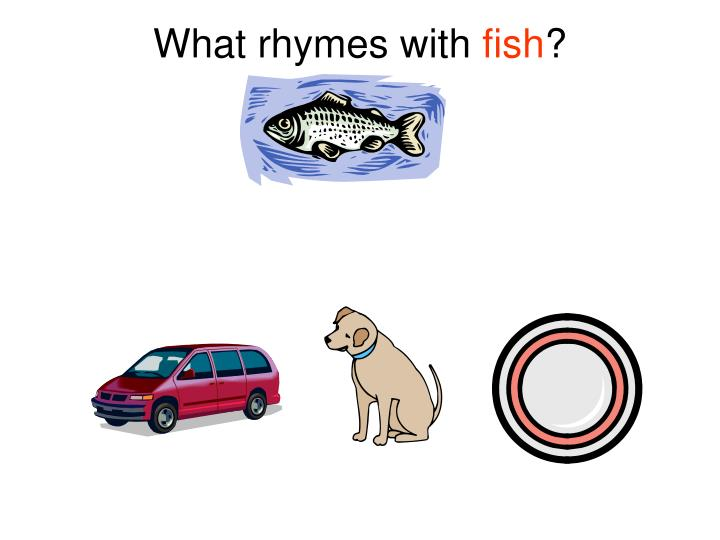 What rhymes with fish