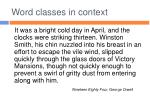 word classes in context