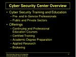 cyber security center overview1