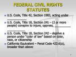 federal civil rights statutes