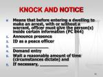 knock and notice