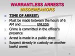 warrantless arrests misdemeanors2