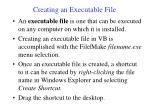 creating an executable file