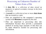 processing an unknown number of values from a file