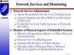 network services and monitoring