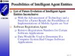 possibilities of intelligent agent entities