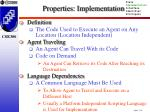properties implementation