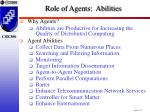 role of agents abilities