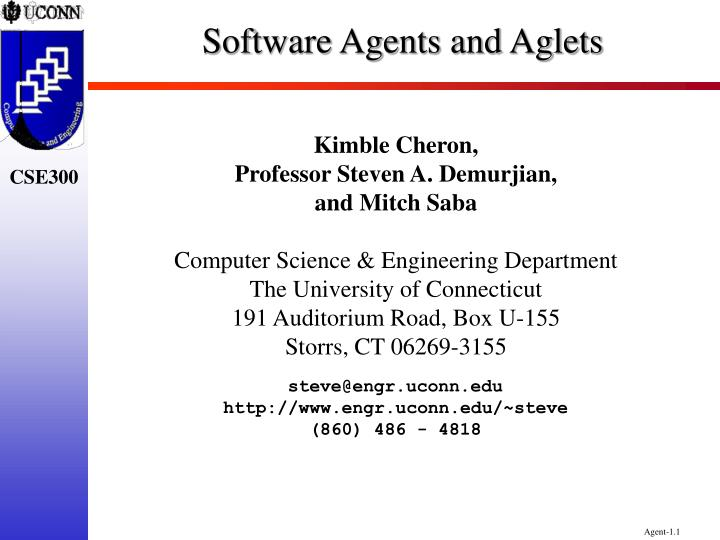 software agents and aglets n.