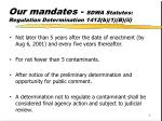 our mandates sdwa statutes regulation determination 1412 b 1 b ii