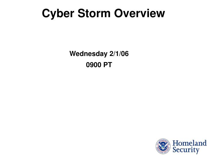 cyber storm overview n.