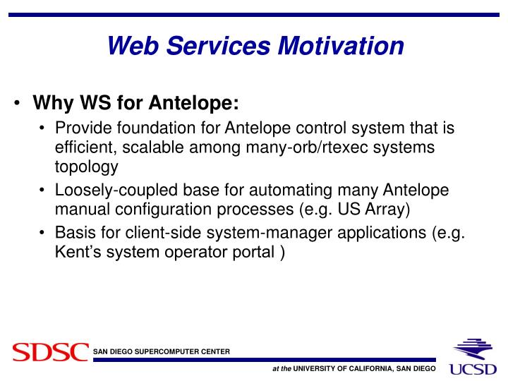 Web services motivation
