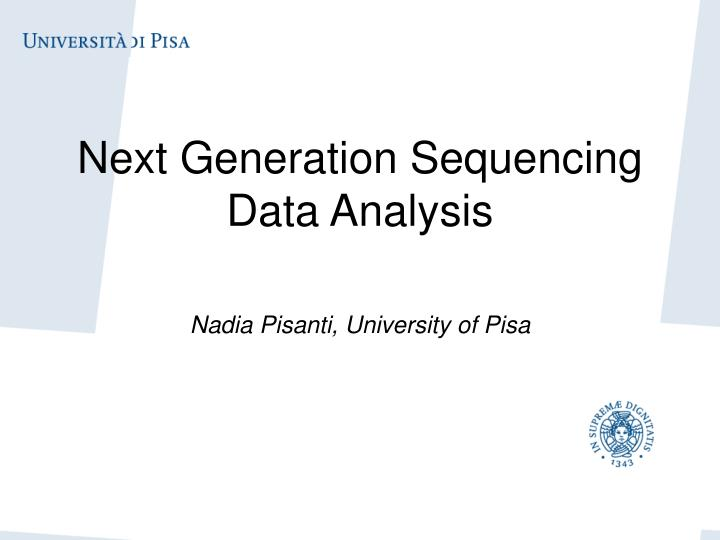 next generation sequencing data analysis n.
