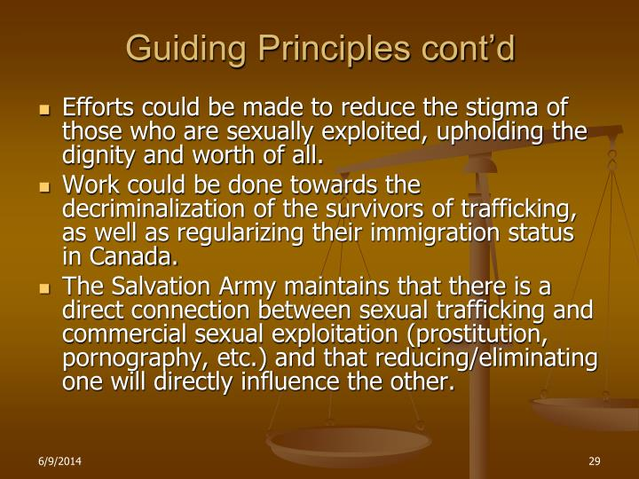 Guiding Principles cont'd