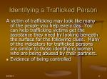 identifying a trafficked person