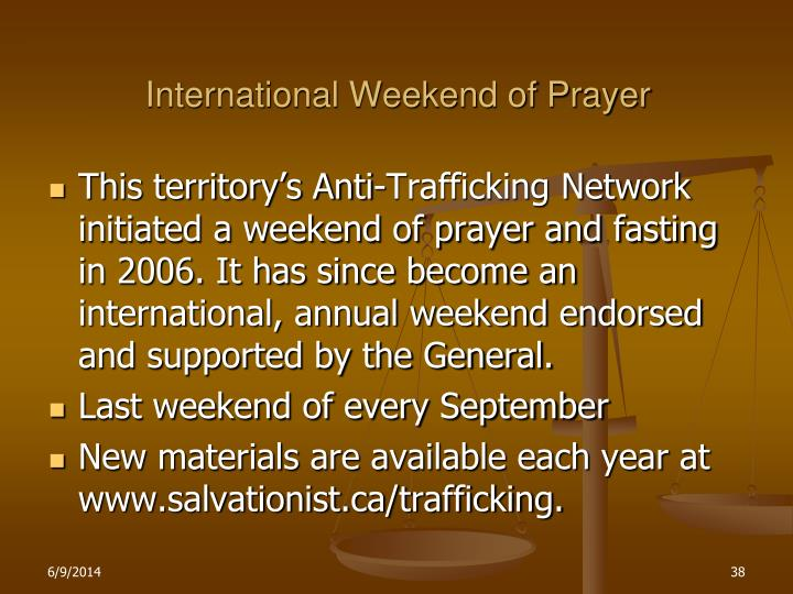 International Weekend of Prayer