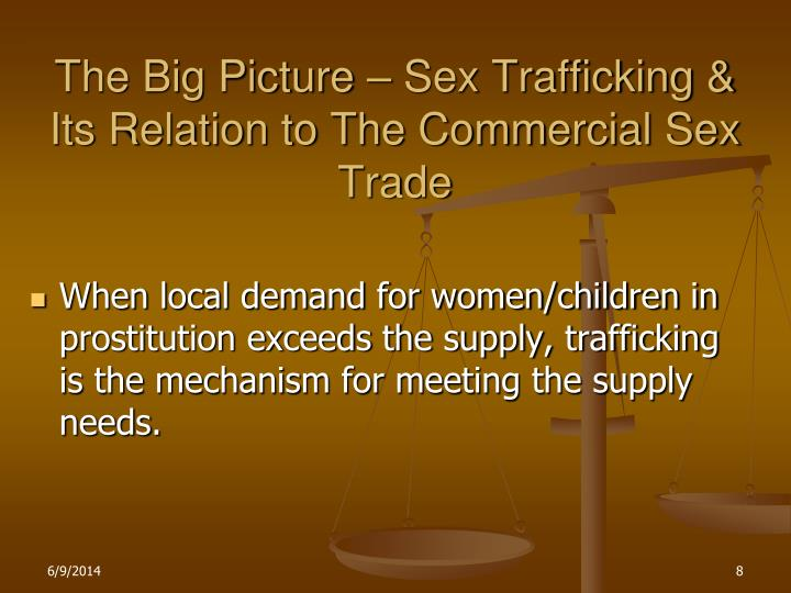 The Big Picture – Sex Trafficking & Its Relation to The Commercial Sex Trade