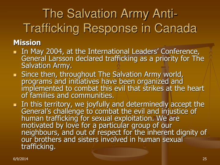 The Salvation Army Anti- Trafficking Response in Canada