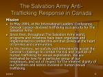the salvation army anti trafficking response in canada