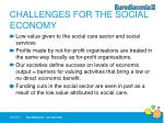 challenges for the social economy