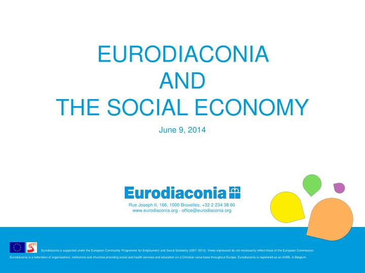 eurodiaconia and the social economy n.