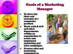goals of a marketing manager