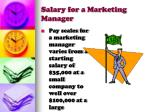 salary for a marketing manager