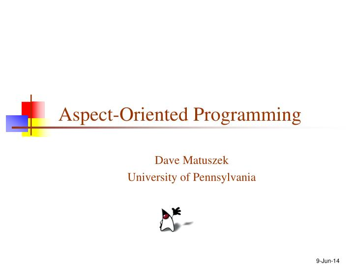aspect oriented programming n.