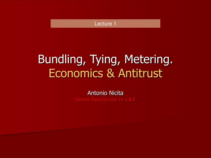 bundling tying metering economics antitrust n.