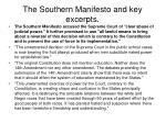 the southern manifesto and key excerpts