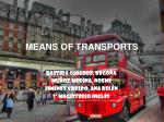 means of transports