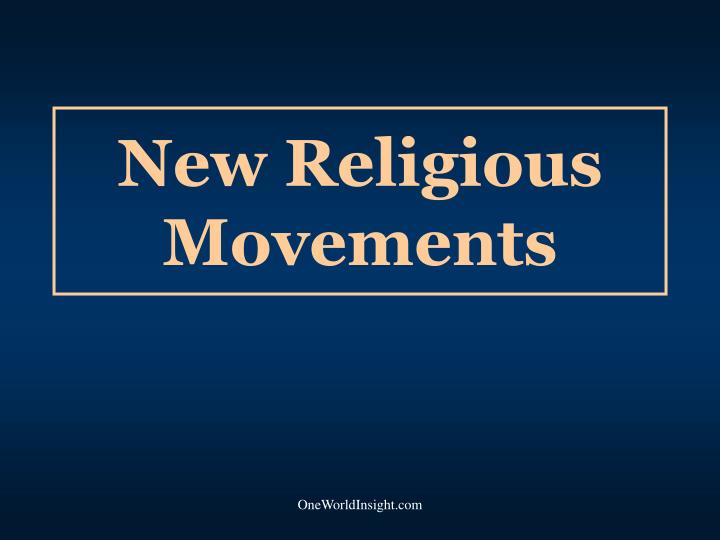 new religious movements n.