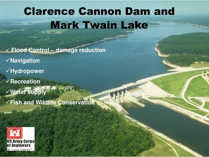 clarence cannon dam and mark twain lake n.