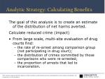 analytic strategy calculating benefits