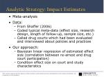 analytic strategy impact estimates