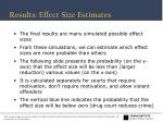 results effect size estimates