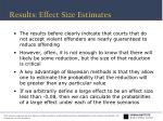 results effect size estimates1