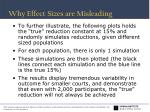 why effect sizes are misleading