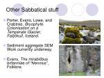 other sabbatical stuff