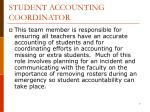 student accounting coordinator