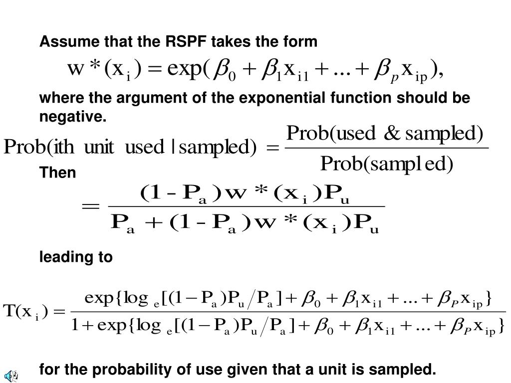 Assume that the RSPF takes the form